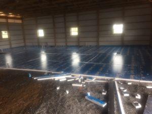 Preparing for the concrete floor